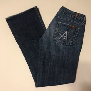 """7 For All Mankind """"A"""" Pocket Womens 26 Blue Jeans"""